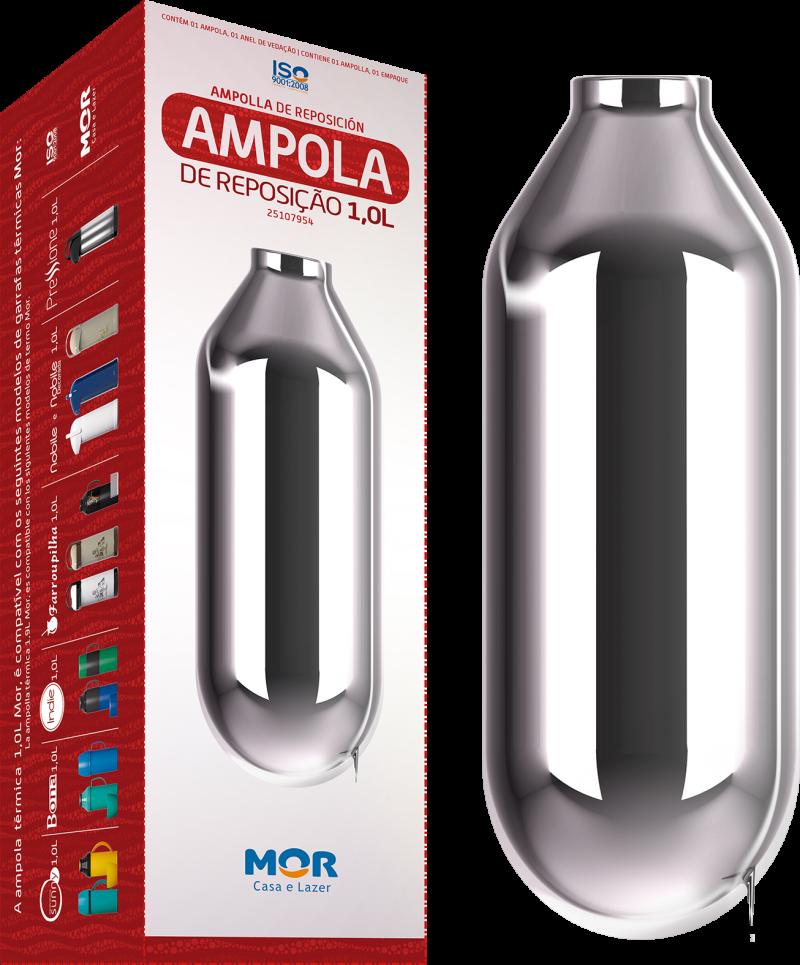 AMPOLA GARRAFA TERMICA 1,0L.